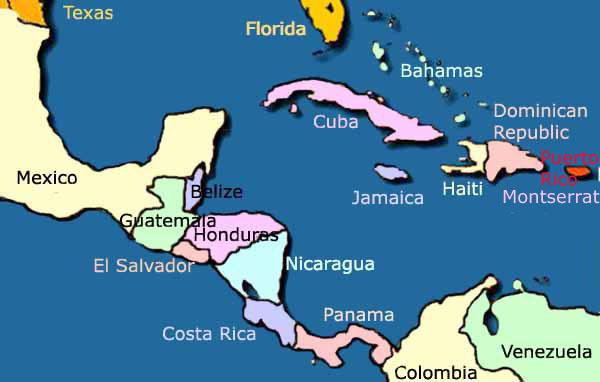 Panama Mexico Map.Panama Mexico Map